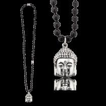Gervida - Herrenschmuck - Kette - Anhänger - Onyx - Buddha - Kopf