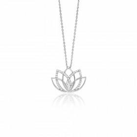 Julie Julsen - Halskette - Lotus Silber
