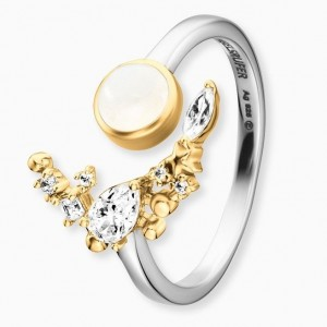 Engelsrufer - Ring - Moonlight mit Zirkonia und Mondstein - Gold