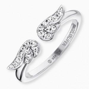 Engelsrufer - RING - Zwei Flügel mit Kristallen