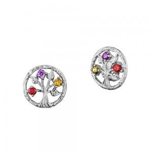 Julie Julsen - Lebensbaum - Ohrstecker - Ohrring - Silber mit Zirkonia Kristallen
