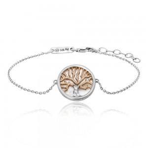 Julie Julsen - Armband - Lebensbaum Perlmutt Silber / Rosé