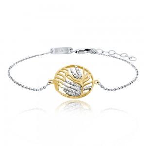 Julie Julsen - Armband - Palmenblatt Gold