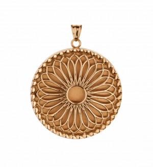 Traumfänger, Glücksanhänger - MEDAILLON  - 3,5cm - Gold