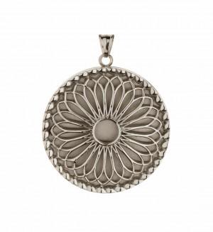 Traumfänger, Glücksanhänger - MEDAILLON  - 3,5cm - Silber