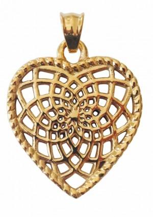 Traumfänger, Glücksanhänger - HERZ - 3,5cm - Gold