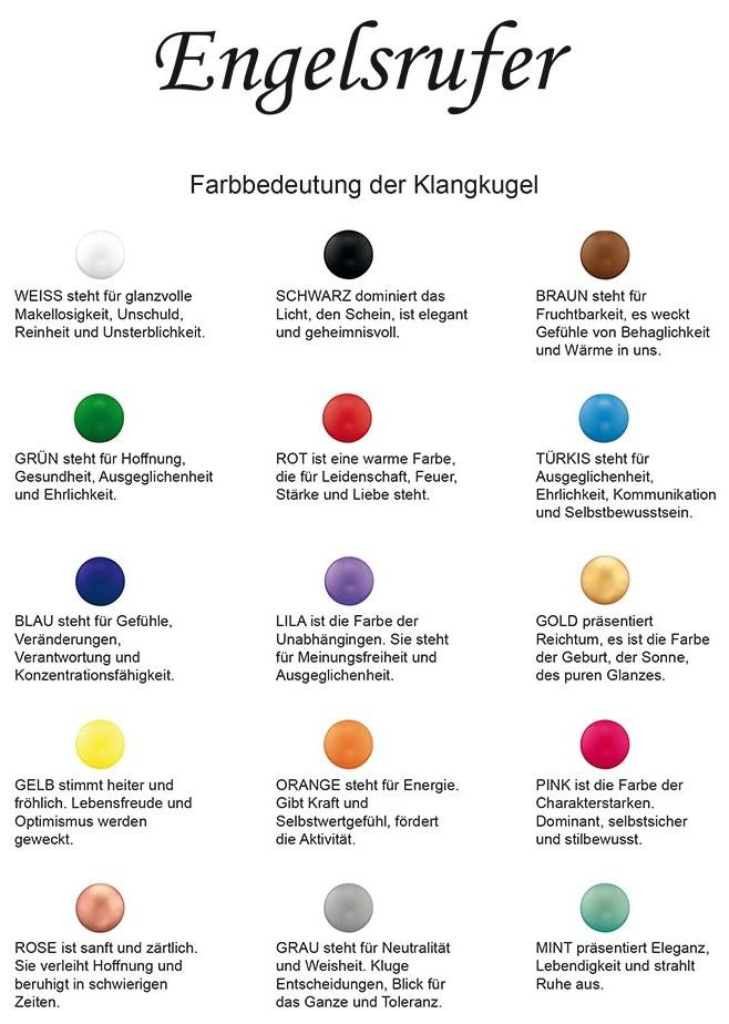 Engelsrufer - Farbbedeutungen